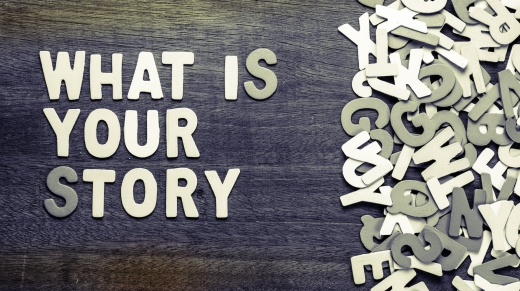 What Is Your Story text with scattered wood letters